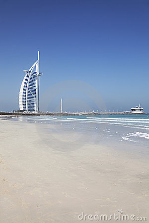 Burj Al Arab and Beach, Dubai, UAE