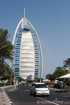 Burj Al Arab in Dubai Editorial Stock Photo