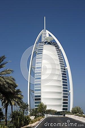 Burj al-Arab famous and luxury hotel, Dubai
