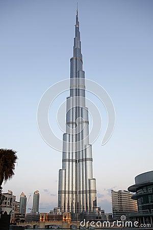Burj Dubai / Burj Khalifa Panoramic View Editorial Photo