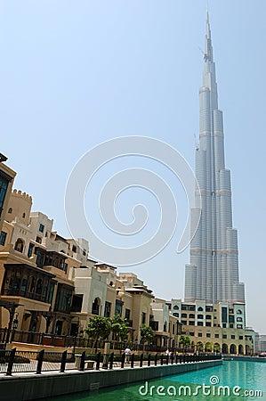 Burj Dubai (Burj Khalifa) skyscraper Editorial Image