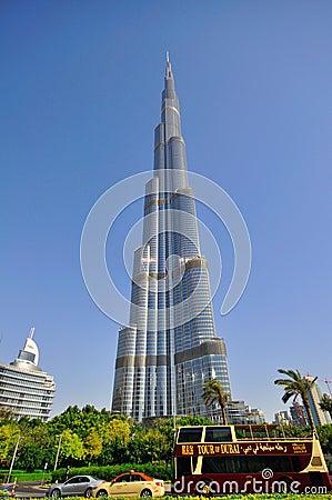 Burj Dubai, the tallest in the world Editorial Image