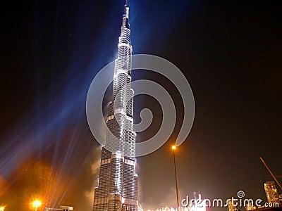Burj Khalifa (Burj Dubai) Inauguration Editorial Image