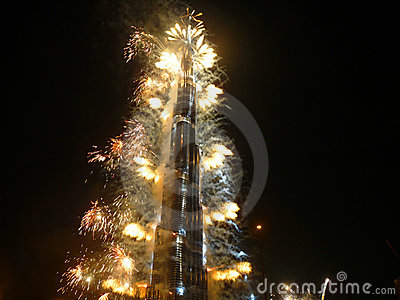 Burj Khalifa (Burj Dubai) Inauguration Editorial Photo