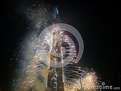 Burj Khalifa (Burj Dubai) Opening Ceremony Editorial Stock Photo