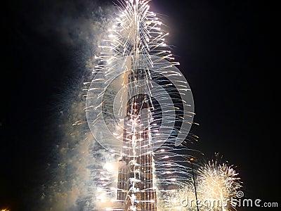 Burj Khalifa (Burj Dubai) Opening Ceremony Editorial Stock Image