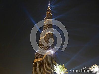 Burj Khalifa (Burj Dubai) Opening Ceremony Editorial Photography