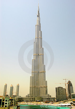 The Burj Khalifa (Burj Dubai) during sunset Editorial Stock Image