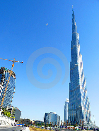 Burj Khalifa Dubai Editorial Stock Photo
