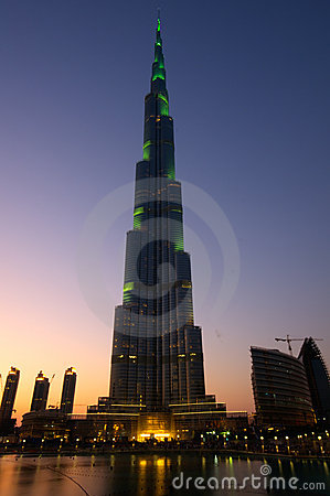 Burj Khalifa Dubai  tallest building in the world Editorial Stock Photo