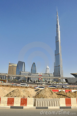 Burj Khalifa, Dubai, UAE Editorial Photography