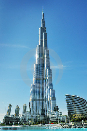 Burj Khalifa (Dubai) - world s tallest building Editorial Photography
