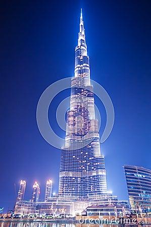 Burj Khalifa on June 7, 2010 Editorial Stock Image