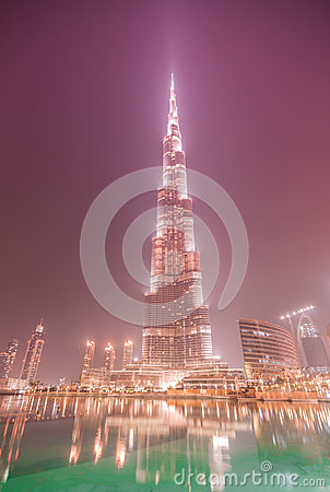 Burj Khalifa on June 7, 2010 in Dubai, UAE.