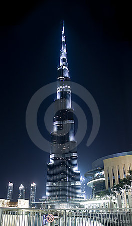 Burj Khalifa in lights Editorial Image