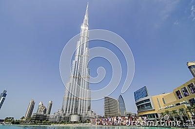 The burj khalifa Editorial Photography