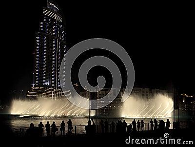 Burj Khalifa Performing Fountain.