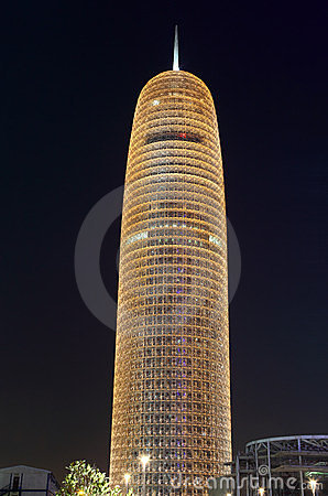 Burj Qatar at night, Doha Editorial Photography