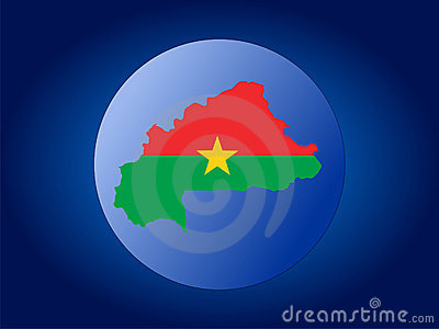 Burkina Faso globe