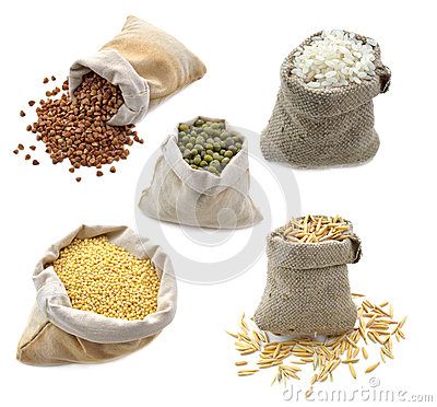 Free Burlap Bags Isolated Stock Photos - 30676463