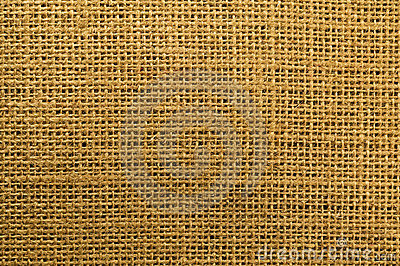 Burlap close up showing weave and texture