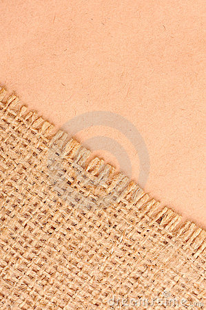 Burlap and paper background
