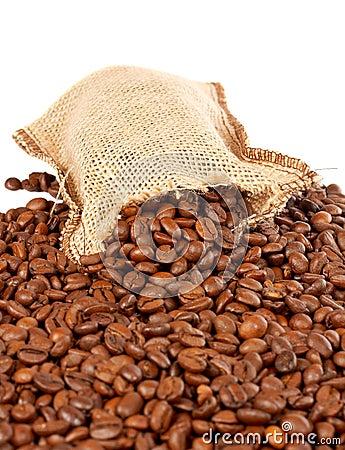 Free Burlap Sack And Coffee Beans Stock Photos - 1637843