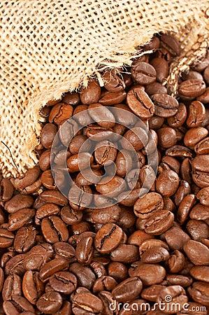 Free Burlap Sack And Coffee Beans Stock Photos - 1637903