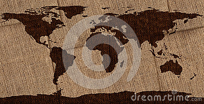 Burlap World Map