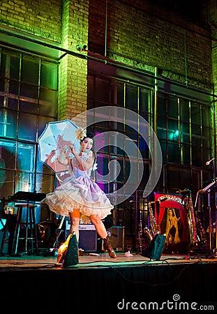 Burlesque Dancer Editorial Image