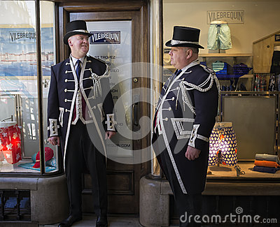 Burlington Beadles,  Burlington Arcade, London, England Editorial Photography