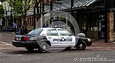 Burlington Police Editorial Stock Photo