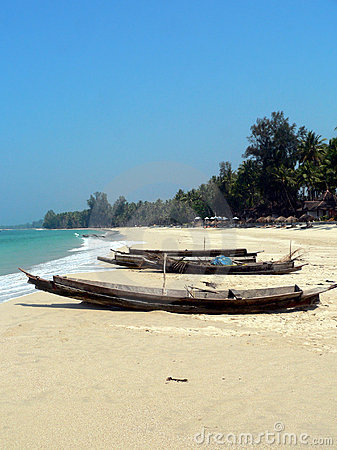 Burma. Beached Boats