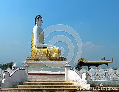 Burma Hilltop Buddha nr Namsaw