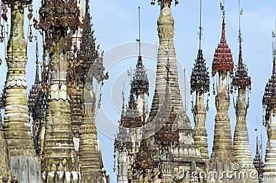 Burma / Indein pagodas