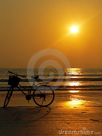 Burma (Myanmar) Bicycle Sunset