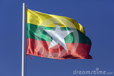 New National Flag of Myanmar (Burma)