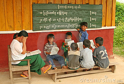 Burma school Editorial Photo