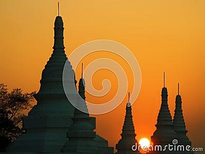 Burma. Sundown at Bagan