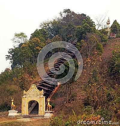 Burma. Temple Entrance
