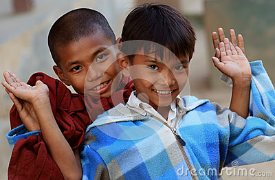 Burmese boys having fun Editorial Photography