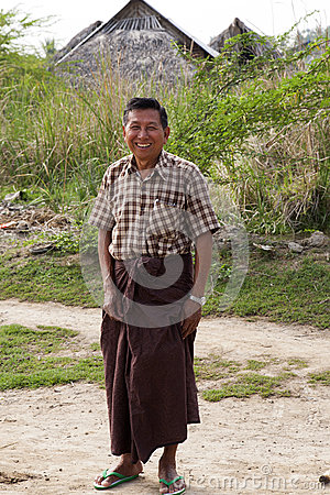 Happy Burmese Man Editorial Image