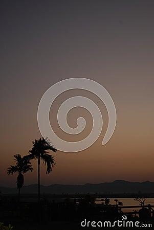 Burmese sunset
