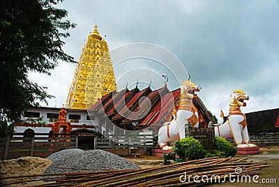 Burmese temple in Sangkhlaburi