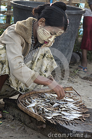 Fishing Village - Ngapali Beach - Myanmar (Burma) Editorial Photo