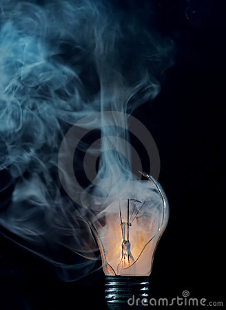 Burn-out - cracked bulb