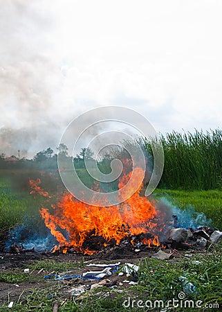 Burn refuse, poisonous smoke