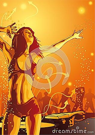 Free Burn The Club - Ladies Night Stock Image - 10885381