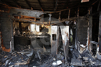 Burned And Abandoned House Royalty Free Stock Images - Image: 16553389