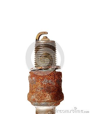 Burned spark plug